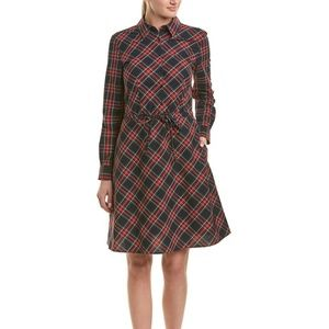 Brooks Brothers Holiday Plaid Shirtdress - Size 8